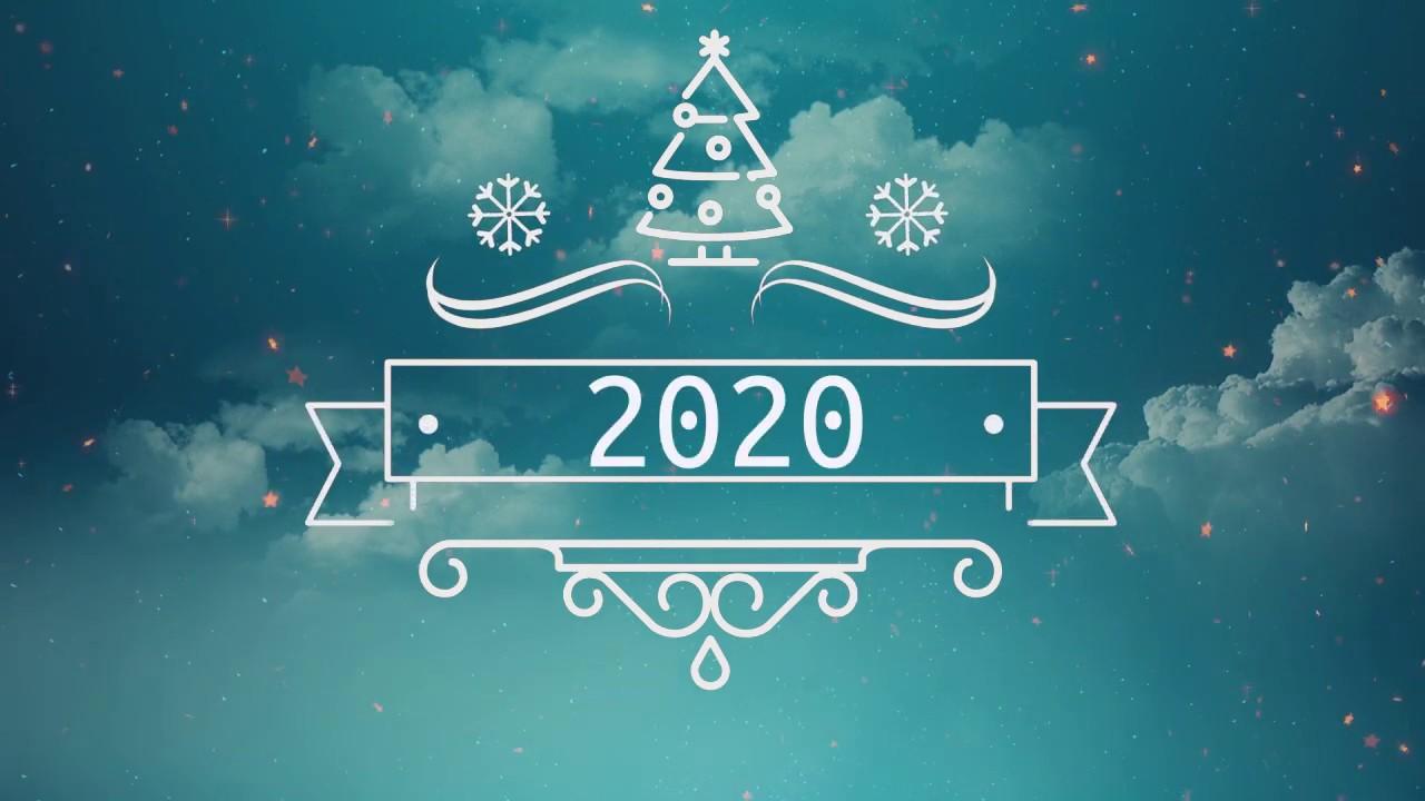 Красивое поздравление с наступающим Новым 2020 годом. Новогодняя открытка - красивое поздравление