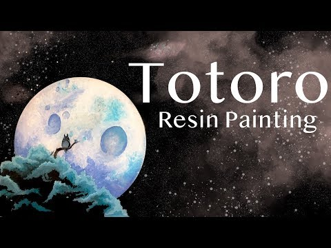 Resin with Me | Layered Resin Painting | Totoro