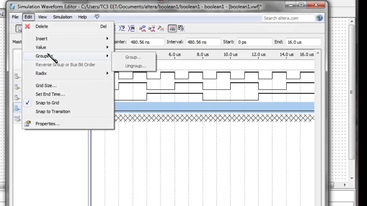 Creating A Waveform Simulation For Altera Fpgas Quartus Version 13 This Schematic Is Presented In Multisim 7 Format And Newer Sec 4 4b Youtube