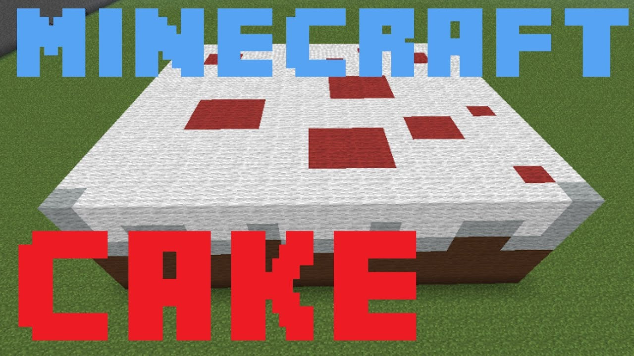 Minecraft building a big cake youtube for Step by step in building a house