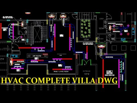 AutoCAD- Autocad Tutorial-HVAC Drawing For a Villa Part-4-Drawings Solution  - YouTube | Hvac Drawing Tutorial |  | YouTube