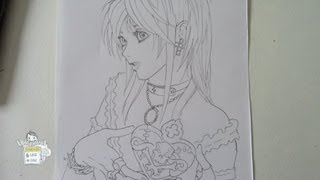 How to draw Amane Misa from Death Note Pt.1 弥 海砂