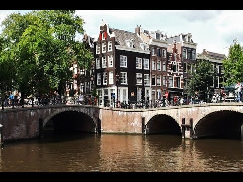 Amsterdam: Houses near the canels (daytime)