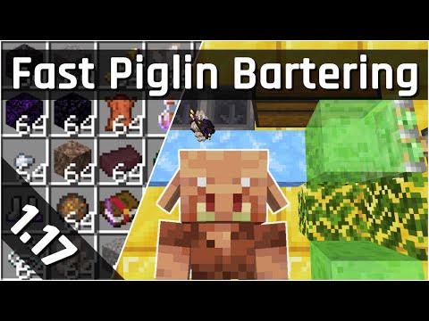 Fast Piglin Bartering Farm Tutorial | Minecraft 1.17 (Java Edition)