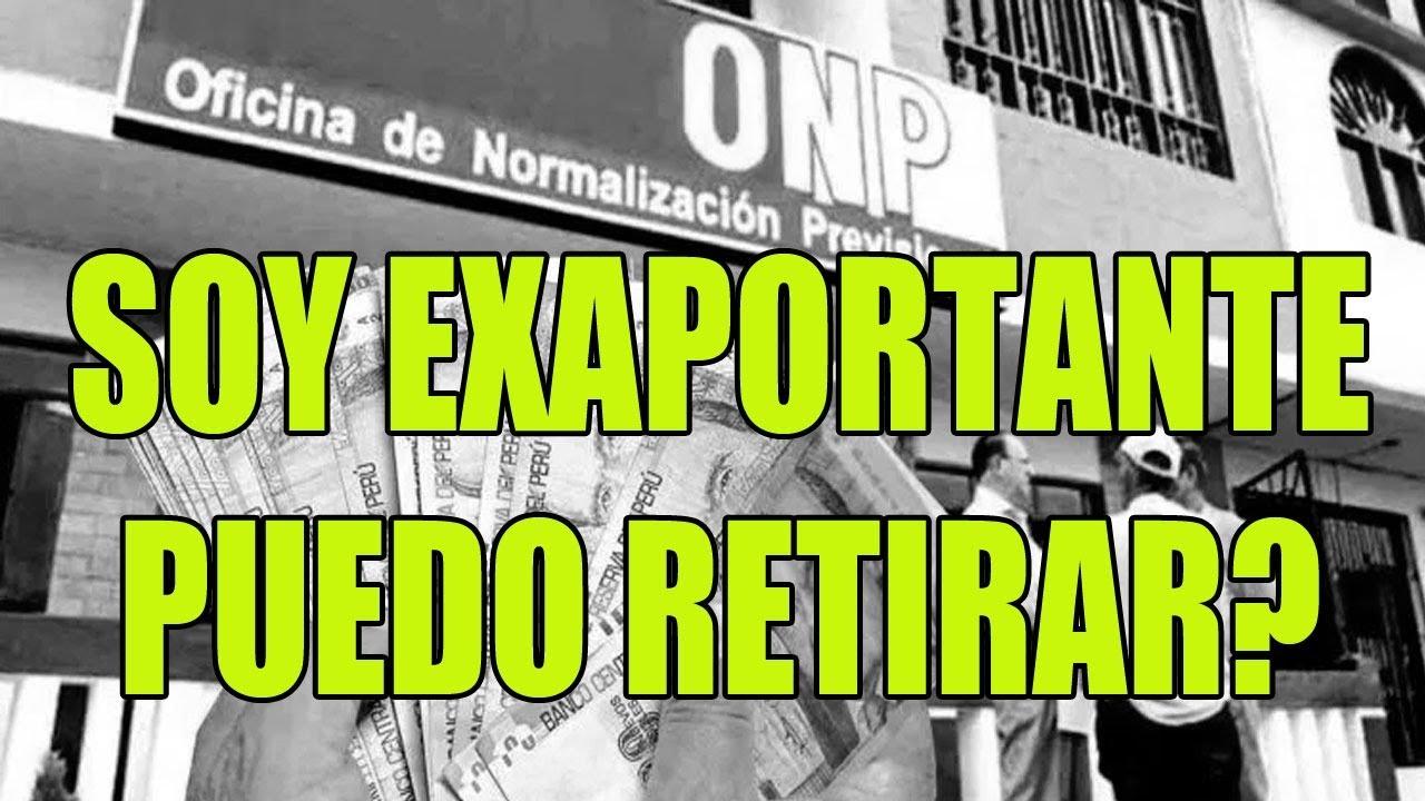 RETIRO ONP : SOY APORTANTE O EX APORTANTE