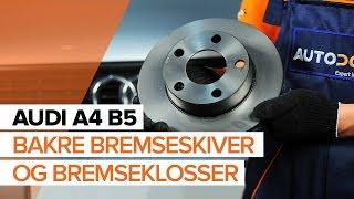 Se videoguiden vår om feilsøking i Bremsekloss AUDI