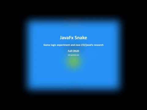 JavaFx Snake Project Presentation