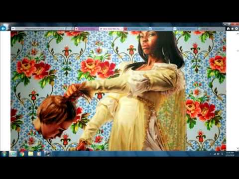 Racist Painted Muslim Antichrist Obamanation's Official Portrait Known For Blacks Beheading Whites