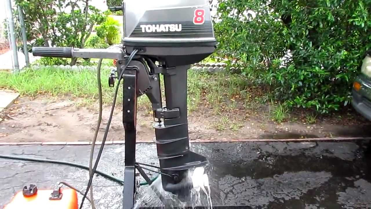 8hp Tohatsu Longshaft Tiller Outboard Motor With Electric Start