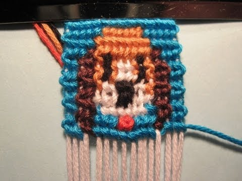 Фенечка прямого плетения несколько цветов Собачки