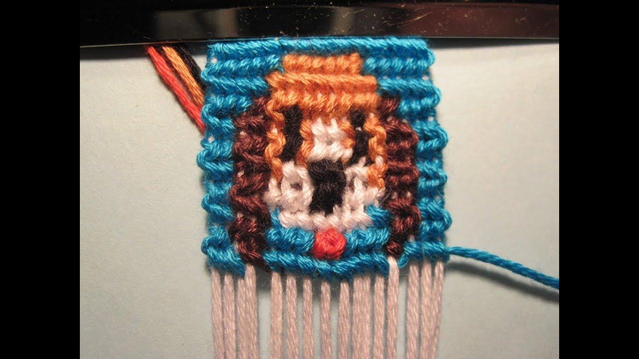 Плетение браслетов с 3 цветами