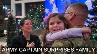 Army National Guard captain's return surprises family