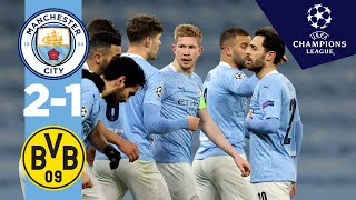 HIGHLIGHTS | Man City v Dortmund | DE  BRUYNE, REUS, FODEN | UCL Quarter final 1st leg