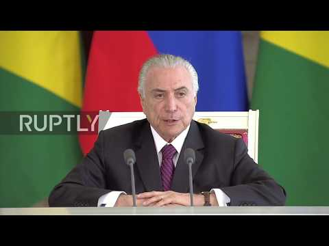 Russia: Putin lauds economic cooperation with Brazil during Temer meeting