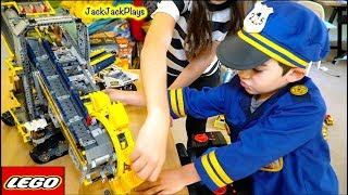 Legos in Pretend Play Cops and Robbers Skit - Looking for Hidden Surprise Eggs