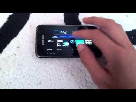 Samsung Galaxy S running android 3.0 Honeycomb!.MOV
