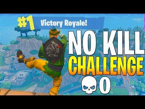 0 KILL CHALLENGE! - FORTNITE SKY BRIDGE (Fortnite NO KILL CHALLENGE)