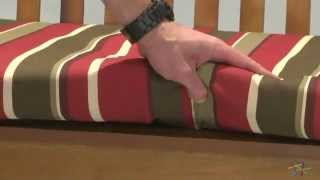 Blazing Needles Outdoor 4 Ft. Patio Bench Cushion - Product Review Video