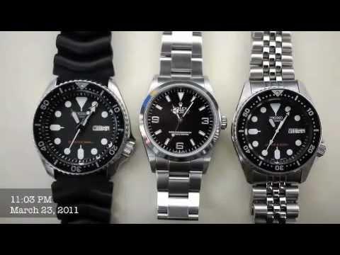 Rolex Explorer & Seiko Diver's SKX007