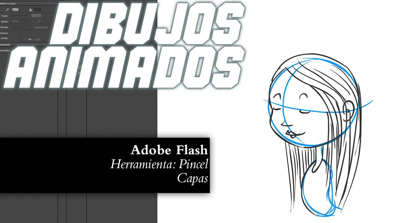 02 Dibujos Animados  Herramienta Pincel de Flash  2D Animation