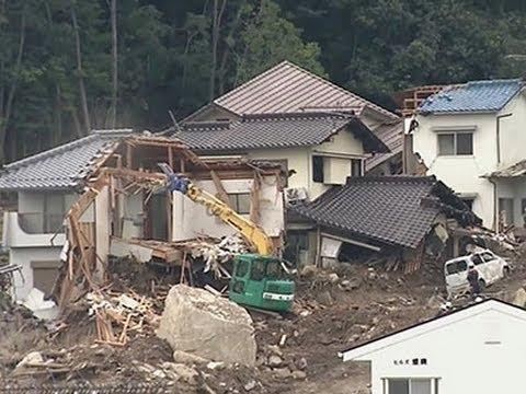 Raw: Prime Minister at Japan Landslide Site