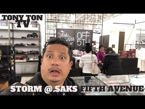 TONY TON TV | Storm @Sak Fifth Avenue TONY TON TV | Black Friday Storm @Sak Fifth Avenue