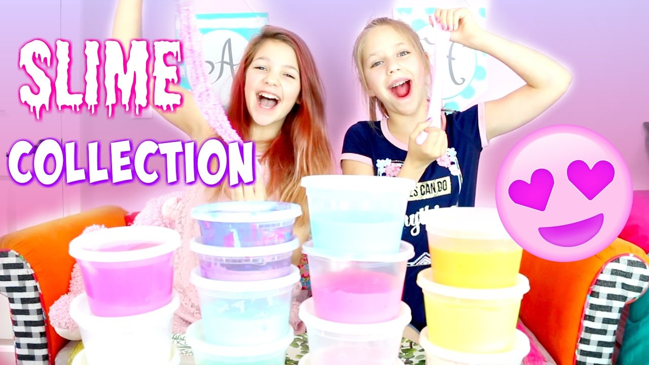 Huge Slime Collection by Annie & Hope | Naming Types of DIY Slimes
