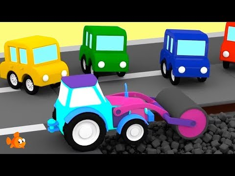 ROAD ROLLER! - Cartoon Cars Road Repairs - Cartoons For Children - Videos For Kids