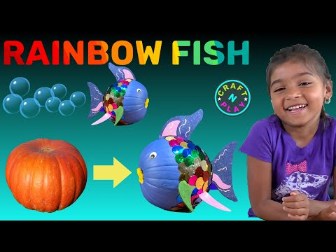 How To Make Rainbow Fish With Pumpkin, Paint And Colors For Kids