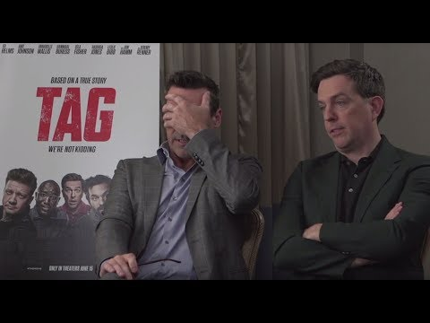 Jon Hamm & Ed Helms Talk About Their TAG Injuries (Exclusive Interview)
