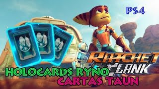 CARTAS TAUN | HOLOCARDS RYNO | COLECCIONABLES | RATCHET & CLANK (PS4)