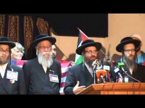 Rabbi Weiss speaks at Viva Palestina press conference in Cairo - Arabic