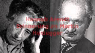 Hannah Arendt - Erinnerung an Martin Heidegger (Audio)
