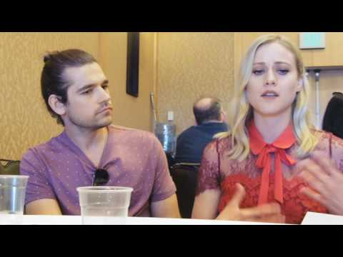 with Jason Ralph and Olivia Taylor Dudley of The Magicians  Comic Con 2016