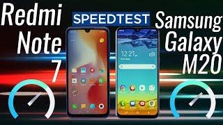 Redmi Note 7 vs Samsung Galaxy M20: Speed Test