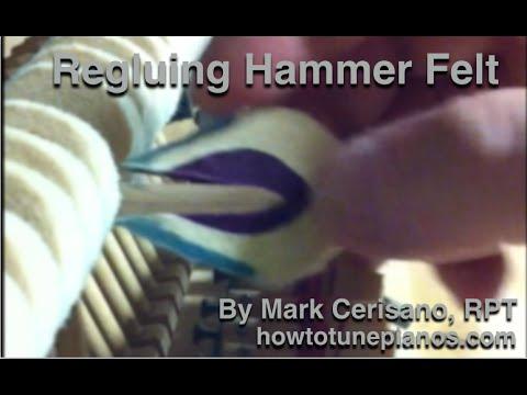 Regluing Hammer Felts That Come Unglued