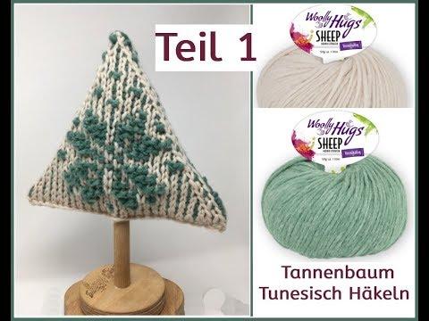 Tannenbaum Einfach Tunesisch Häkeln Woolly Hugs Sheep Teil 1