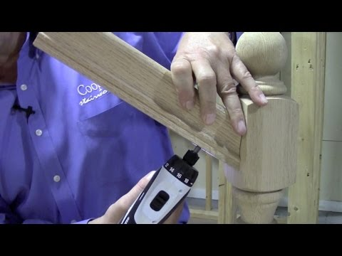 How To Connect Handrail At An Angle To A Newel Post Using