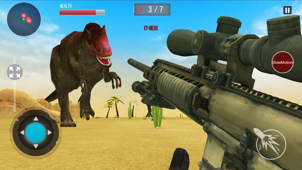 DINOSAUR HUNT 2019 - Walkthrough Gameplay Part 2 - THE END (New Dinosaur Games Android)