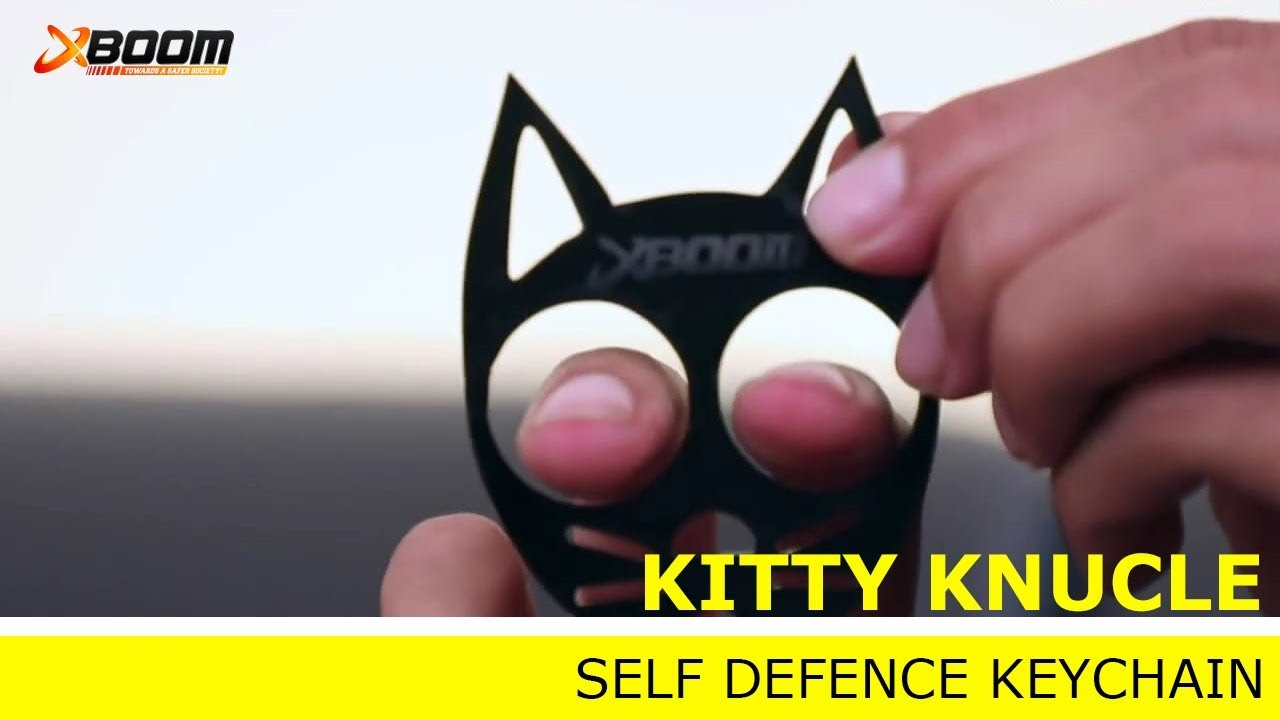 Kitty Knuckle Self Defense Keychain Youtube