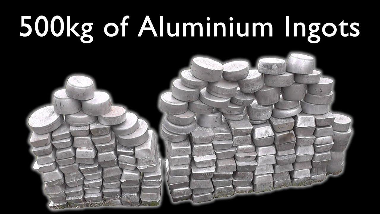 making 526 kg 1160 lb of aluminium ingots from scrap metal youtube