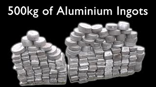 Making 526 kg (1160 lb) of Aluminium Ingots from Scrap Metal
