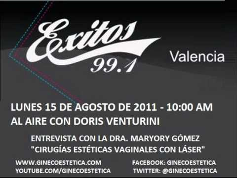 Entrevista Dra Maryory Gomez - Exitos 99.1 fm Valencia