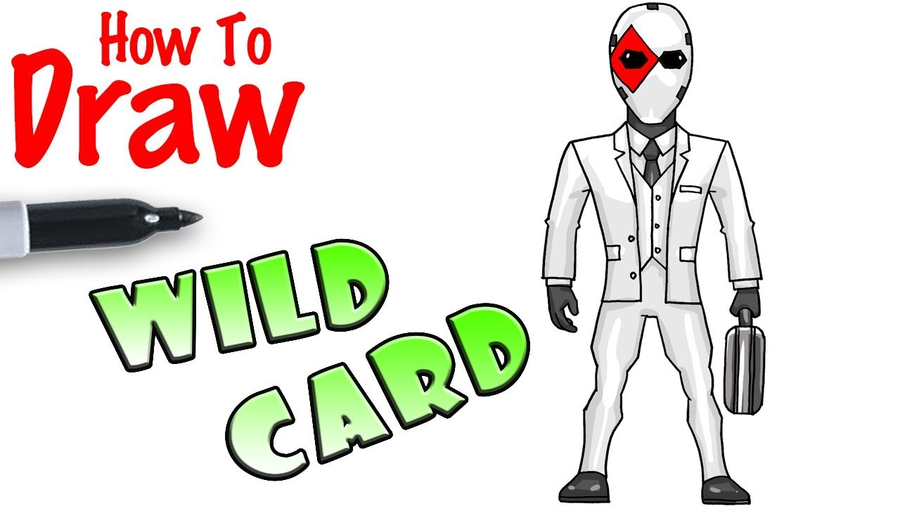 How To Draw Wild Card Fortnite Youtube