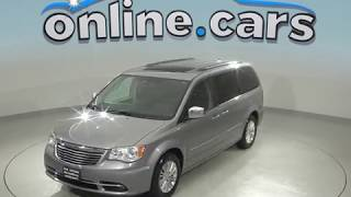 A98975GT Used 2013 Chrysler Town & Country Limited Passenger Mini Van Gray Review, For Sale