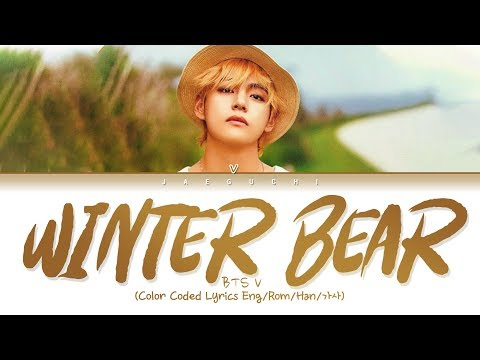 BTS V - Winter Bear (Color Coded Lyrics Eng)