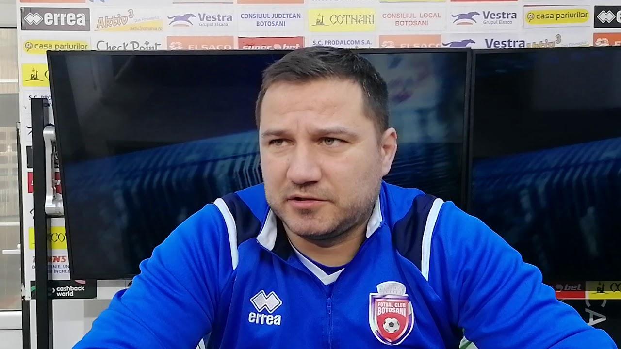 Marius Croitoru la conferința de presă înaintea partidei dintre FC Botoșani și FC Argeș