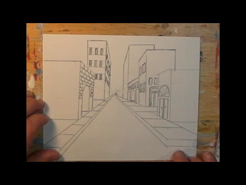 One Point Perspective City Street