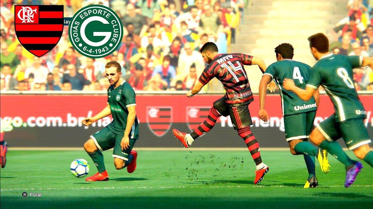 Flamengo X Goias Campeonato Brasileiro 14 07 2019 Estadio Maracana Pes 19 Youtube
