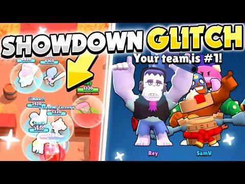 Showdown GLITCH! - 9 Brawlers On One TEAM With This BUG! - How To Do This Friendly Mode Glitch!